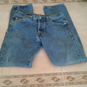 Men's Levis 501 Med. Wash Button Fly Jeans 30 X 34